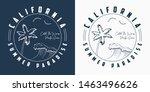california t shirt design with... | Shutterstock .eps vector #1463496626