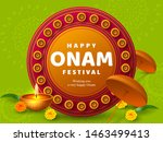 onam festival background for... | Shutterstock .eps vector #1463499413