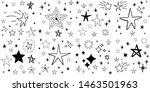 set of hand drawn stars. doodle ...   Shutterstock .eps vector #1463501963