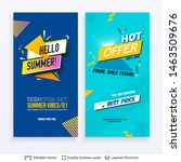 set of summer season ad posters ... | Shutterstock .eps vector #1463509676