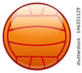 water polo ball or volleyball... | Shutterstock .eps vector #146351129