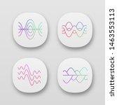 sound waves app icons set. ui...