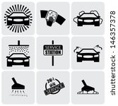 car wash icons   signs   set of ... | Shutterstock .eps vector #146357378