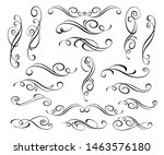 set of  decorative elements for ... | Shutterstock .eps vector #1463576180
