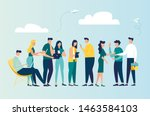 vector colorful illustration of ... | Shutterstock .eps vector #1463584103