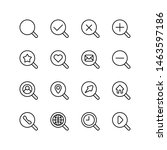 set of search line icon design  ... | Shutterstock .eps vector #1463597186