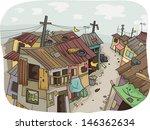 illustration of a slum... | Shutterstock .eps vector #146362634