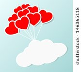 Heart Shaped Balloon With Clou...