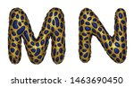 letter set m  n made of... | Shutterstock . vector #1463690450