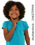 adorable black girl child... | Shutterstock . vector #146370944