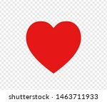 red heart sign isolated on... | Shutterstock .eps vector #1463711933
