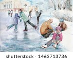 People In The Winter Skate ...