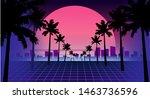 80s retro future. retro... | Shutterstock .eps vector #1463736596