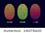 fingerprints. cyber security... | Shutterstock .eps vector #1463736620