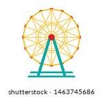 Ferris Wheel Vector Icon....