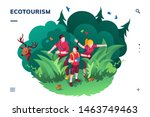 ecotourism screen for... | Shutterstock .eps vector #1463749463