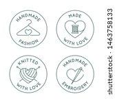 vector set of logo design... | Shutterstock .eps vector #1463758133