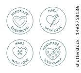 vector set of logo design... | Shutterstock .eps vector #1463758136