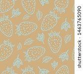 line art outline strawberry... | Shutterstock .eps vector #1463765090
