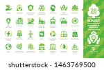 ecology green icon set with... | Shutterstock .eps vector #1463769500
