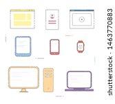 electronic devices  desktop... | Shutterstock .eps vector #1463770883