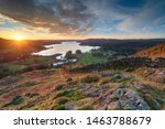 Sunrise Over Windermere In The...