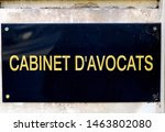 french text  cabinet d'avocats. ... | Shutterstock . vector #1463802080