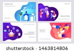 people at work. brainstorming... | Shutterstock .eps vector #1463814806