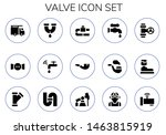 valve icon set. 15 filled valve ... | Shutterstock .eps vector #1463815919