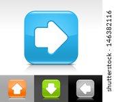 arrow icon set. blue  orange ...