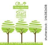 Tree Design. Go Green. Save...