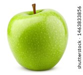 Green Juicy Apple Isolated On...