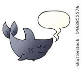 cartoon shark with speech... | Shutterstock . vector #1463852576