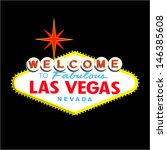 welcome to las vegas sign on... | Shutterstock .eps vector #146385608