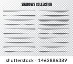 realistic shadow effect vector... | Shutterstock .eps vector #1463886389