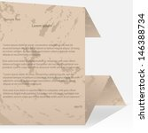 old style origami paper speech... | Shutterstock .eps vector #146388734