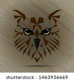 owl bird low poly design | Shutterstock .eps vector #1463936669