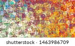 canvas painting. colorful...   Shutterstock . vector #1463986709