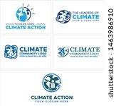 logo design blue earth sun and...   Shutterstock .eps vector #1463986910