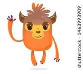 Stock photo funny cartoon bigfoot or sasquatch or yeti illustration 1463993909