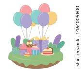 happy birthday surprise design... | Shutterstock .eps vector #1464009800