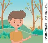 teenager boy cartoon design... | Shutterstock .eps vector #1464020543
