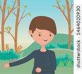 teenager boy cartoon design... | Shutterstock .eps vector #1464020930