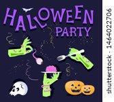 halloween party poster template.... | Shutterstock .eps vector #1464022706