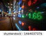 hong kong display stock market... | Shutterstock . vector #1464037376