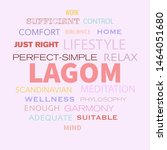 concept of lagom scandinavian...   Shutterstock .eps vector #1464051680