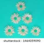 large daisies laid out in the... | Shutterstock . vector #1464059090