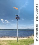 Ferry Pier With Windsock At The ...