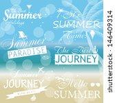 vintage summer calligraphic... | Shutterstock .eps vector #146409314