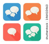 trendy flat icons with speech...   Shutterstock .eps vector #146410463